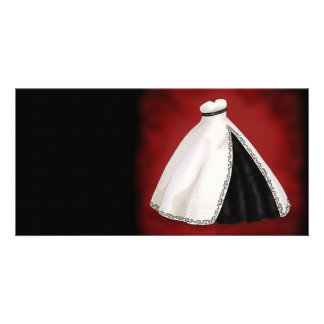 Black and White Wedding Gown Photo Card Template