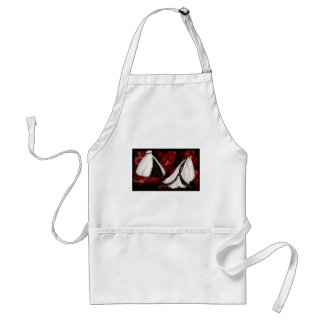Black and White Wedding Gown Standard Apron