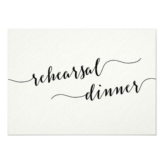 Black And White Wedding Rehearsal Dinner Invites
