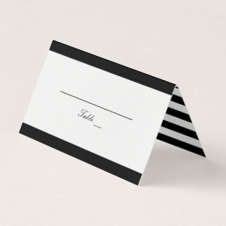 Black and White Wedding Table Place Card