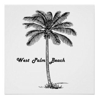 Black and white West Palm Beach & Palm design