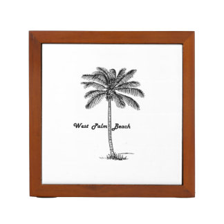 Black and white West Palm Beach & Palm design Desk Organiser