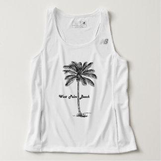Black and white West Palm Beach & Palm design Tank Top