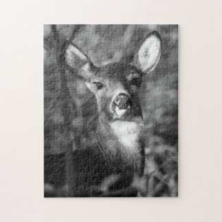 Black and White White-Tailed Deer Puzzle