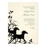 Black and White Wild Horses Wedding Invitation 13 Cm X 18 Cm Invitation Card