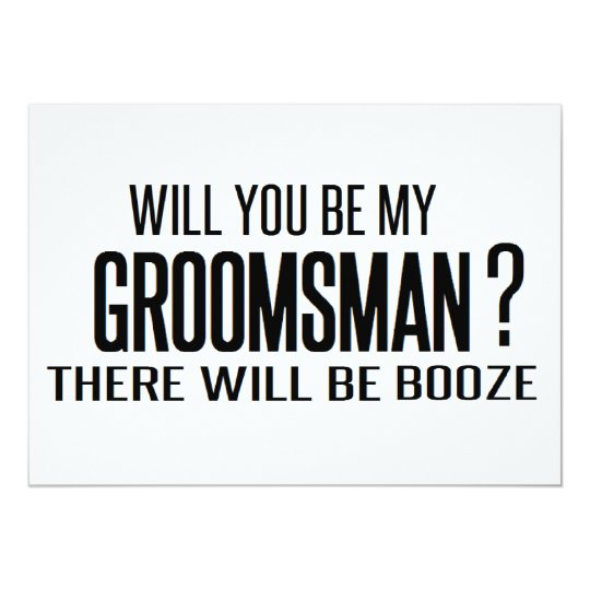 Best man request gifts gift ideas zazzle uk black and white will you be my groomsman junglespirit Images