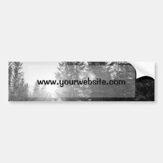 Black And White Winter Forest Landscape Bumper Sticker