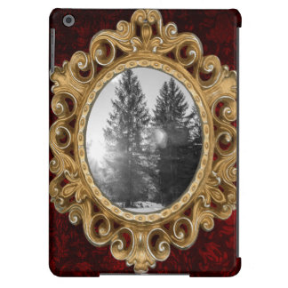 Black And White Winter Forest Landscape Cover For iPad Air