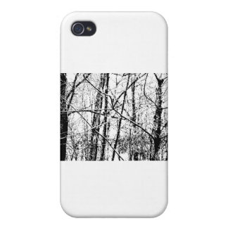 Black and White Winter iPhone 4 Cases