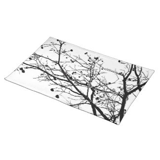 Black and White Winter Tree Placemat