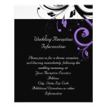 Black and White with Purple Swirl Accent 11.5 Cm X 14 Cm Flyer