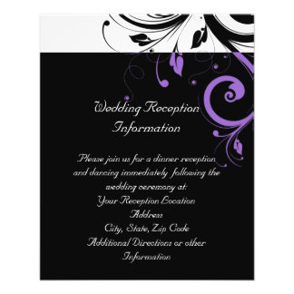 Black and White with Purple Swirl Accent Flyer