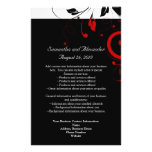 Black and White with Red Reverse Swirl 14 Cm X 21.5 Cm Flyer