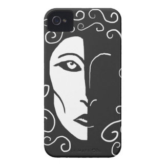 Black and White Woman in Shadow Blackberry Case