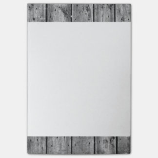 Black and White Wood Planked 4x6 Post-It Notes