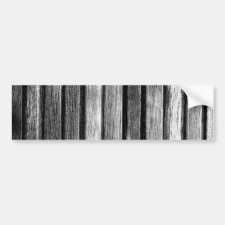 Black and White Wood Slats Bumper Sticker