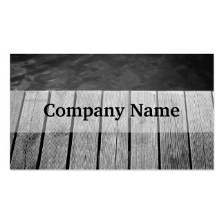 Black and White Wooden Jetty Closeup Business Card Templates