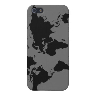 black and white World Map iPhone 5/5S Cover