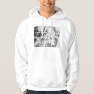 black and white wrinkled paper towel image pullover