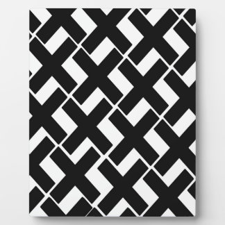 Black and White Xs Plaque