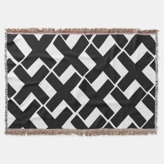 Black and White Xs Throw Blanket