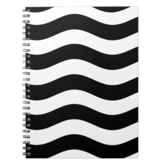black and white xxl.jpg spiral notebooks