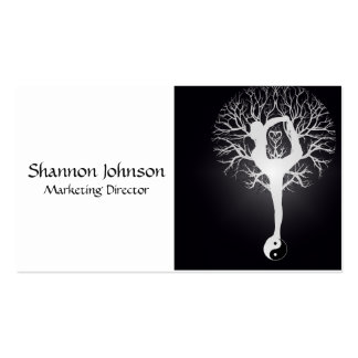 Black and White Yin Yang Tree Pack Of Standard Business Cards