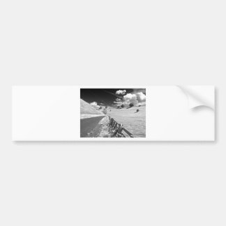 Black and white Yorkshire Bumper Sticker