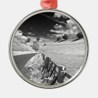 Black and white Yorkshire Christmas Ornament