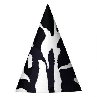Black and white zebra animal fashion party hat