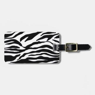 Black and White Zebra Animal Print Luggage Tag