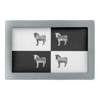 Black and white zebra belt buckle