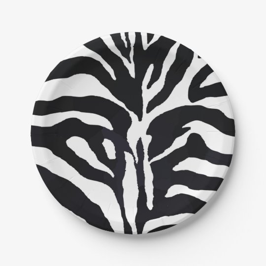 Black and white zebra modern fashion glamour paper