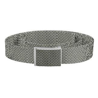 Black and White Zebra Pattern Print Belt