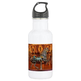Black and White Zebra 532 Ml Water Bottle