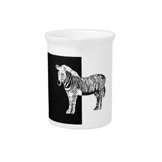 Black and white zebra pitcher