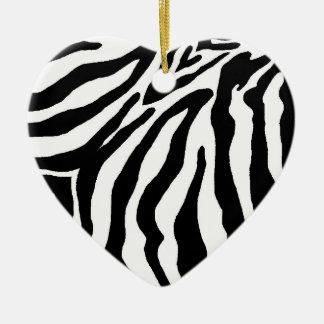 Black and White Zebra Print Christmas Ornament