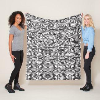 Black and White Zebra Print Fleece Blanket