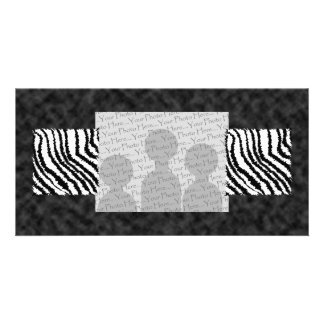 Black and White Zebra Print Pattern. Customised Photo Card