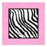 Black and White Zebra Print Pattern. Invite