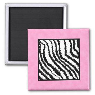 Black and White Zebra Print Pattern. Magnet