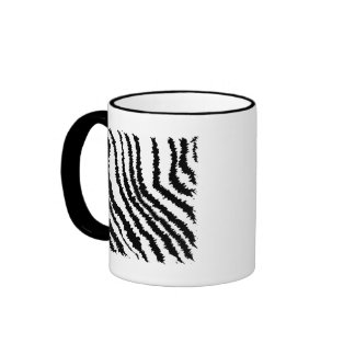 Black and White Zebra Print Pattern Coffee Mug