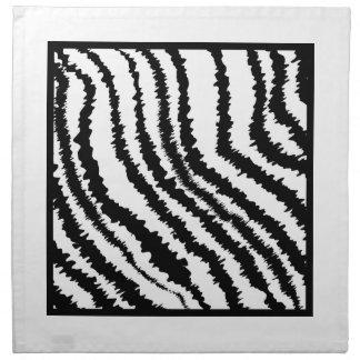 Black and White Zebra Print Pattern. Napkin