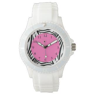 Black and White Zebra Print Watch