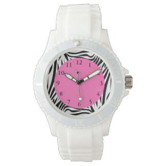 Black and White Zebra Print Wrist Watches