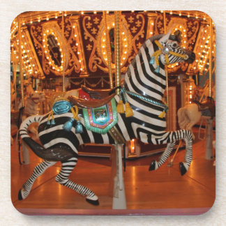 Black and White Zebra Products Beverage Coasters