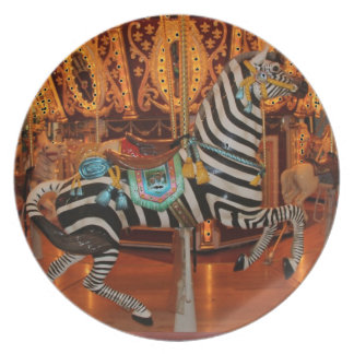 Black and White Zebra Products Party Plates