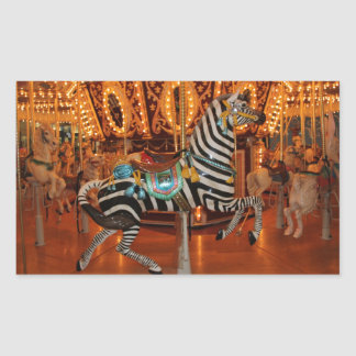 Black and White Zebra Products Rectangular Sticker