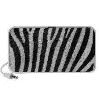 Black and White Zebra Skin Speakers