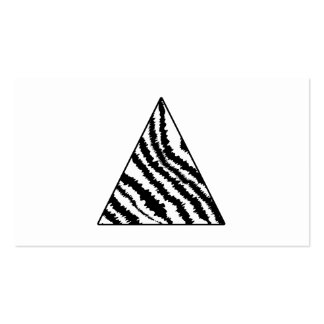 Black and White Zebra Stripe Triangle. Monochrome. Double-Sided Standard Business Cards (Pack Of 100)